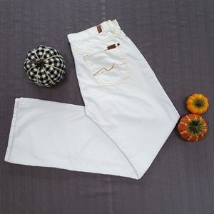 Rare white 7 for all mankind pants
